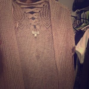 NWT woman's lace cardigan